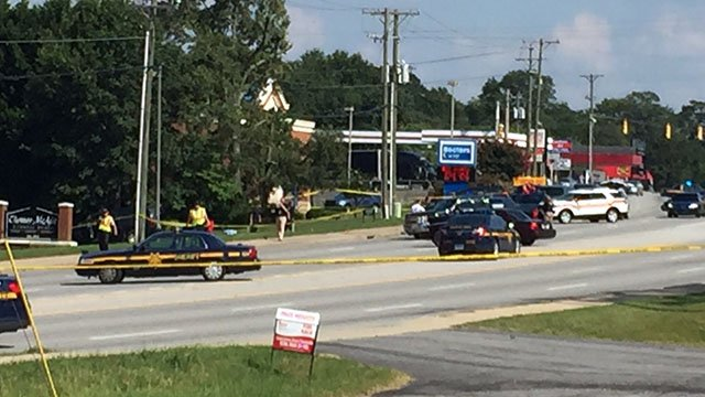 One dead in shooting on White Horse Road. (Source: Jennifer McKelvey)