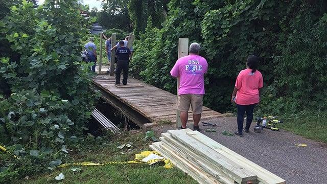 Una FD rebuilding bride for Salvation Army. (7/15/17 FOX Carolina)