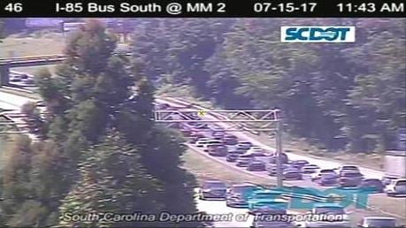 Backup on I-26 W in Spartanburg. (Source: SCDOT)