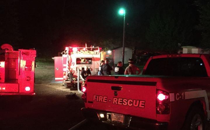 Firefighters on Baker Circle (FOX Carolina/ July 17, 2017)