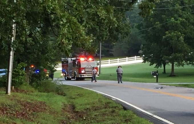 Crash on Enoree Rd (FOX Carolina/ July 17, 2017)
