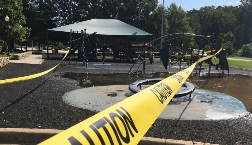 Playground closed at Cleveland Park (FOX Carolina/ July 17, 2017)