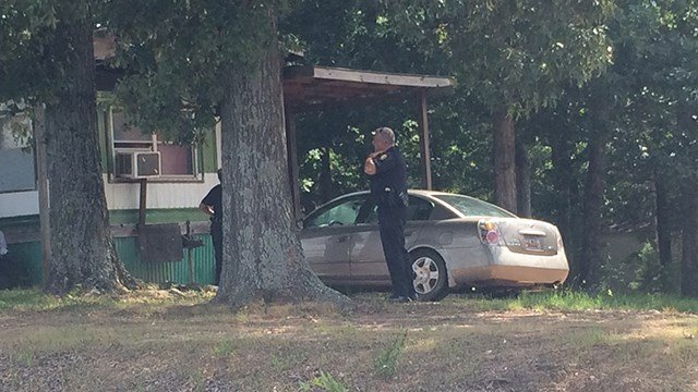 Scene of reported kidnapping on Standing Springs Rd. (7/17/17 FOX Carolina)