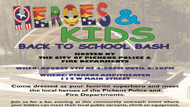 Back to School Bash in Pickens. (Source: City of Pickens)