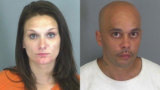 Kristin Peebles and James Johnson (Source: Spartanburg Co. Detention)
