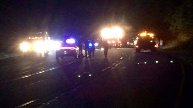 Deputy-involved crash on Masters Boulevard (Oct. 29, 2016/FOX Carolina)