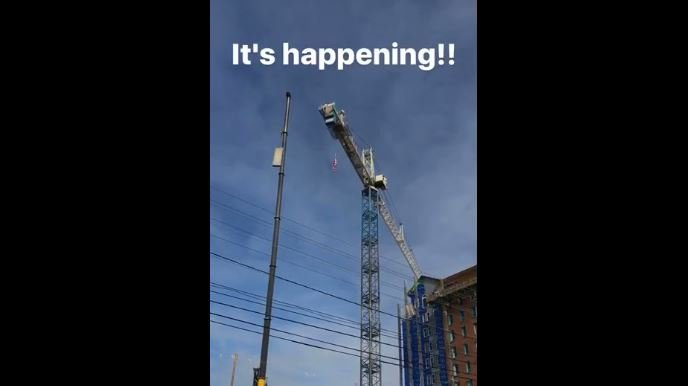 Crane in downtown Spartanburg dismantled (Source: AC Hotel Spartanburg)