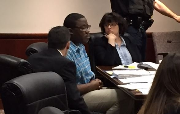 Leamon (center) in court on July 19, 2017 (FOX Carolina)
