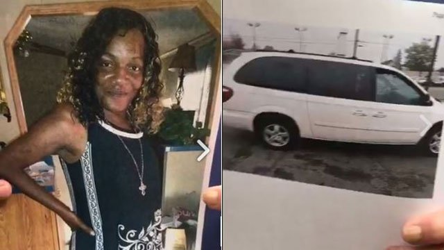 Connie Sanders and 2005 Dodge Caravan (Source: SCSO)