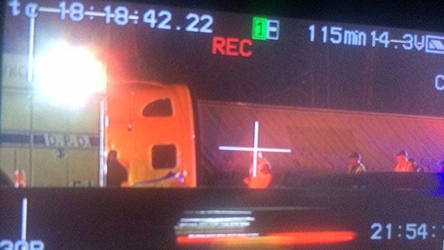 Tractor trailer overturned along I-85 NB near mile marker 63 (FOX Carolina/ 7/19/17)