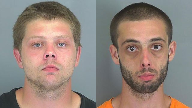 Michael Owensby (L) and Andy Hannah II (Source: Spartanburg Co. Detention)