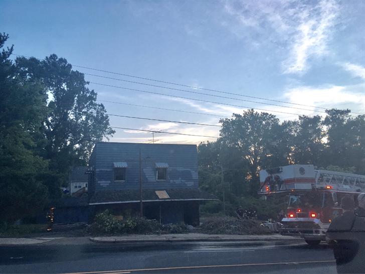 Firefighters on scene of McDowell Street (Source: Asheville FD)