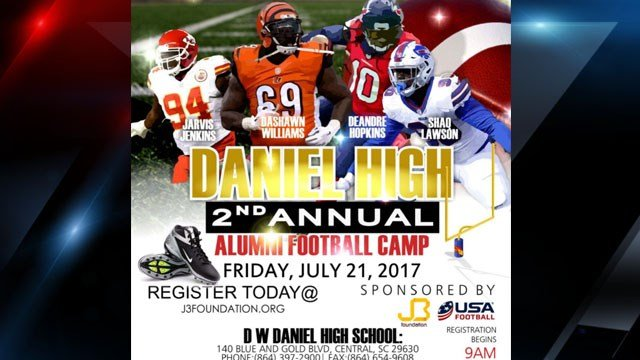 Daniel High School Alumni Football Camp (Source: J3 Foundation)