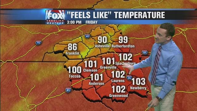 Extreme heat continues on Friday