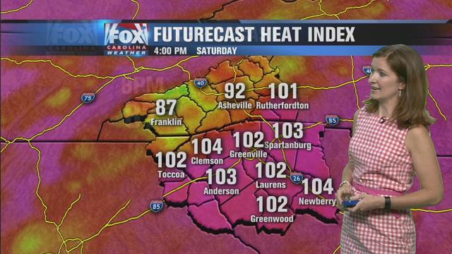 Dangerous heat, thunderstorms firing up for weekend