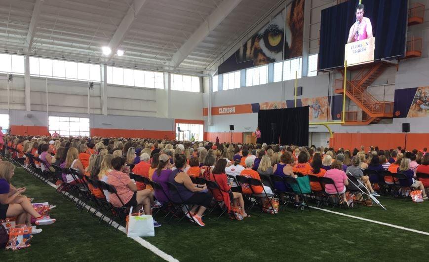Dabo Swinney addresses the attendees (FOX Carolina/ July 22, 2017)