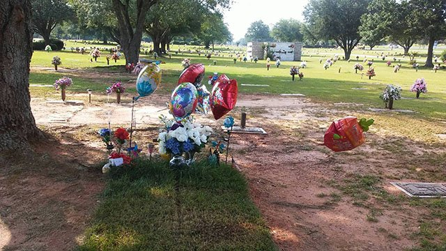 Memorial held at Cole Wheeler's gravesite on what would have been his 19th birthday. (Source: Family)