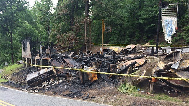 What is left of Bob's Place after it was destroyed by fire. (5/21/17 FOX Carolina)