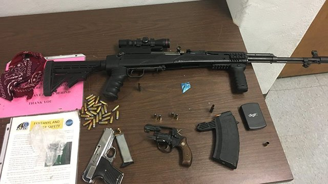 Firearms seized during traffic stop on Laurens Road. (Source: Greenville PD Facebook)