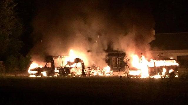 Macon Co. church fire (Source: MCSO Facebook)