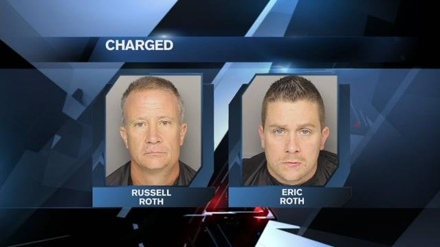 Father, son charged in triple stabbing