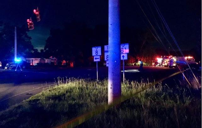 Scene of the crash (July 24, 2017/ FOX Carolina)