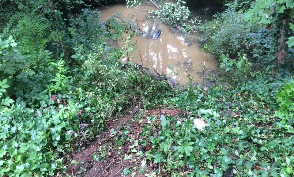 Area where crash occurred (FOX Carolina/ July 24, 2017)