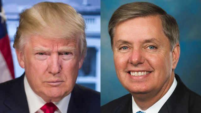 Trump (left) and Graham