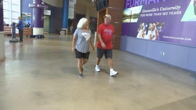 Walkers at the Bon Secours Wellness Arena (July 25, 2017/FOX Carolina)
