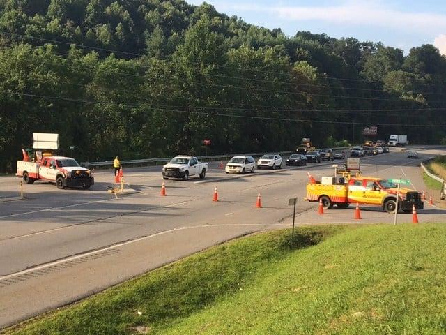Scene of crash on U.S. 74 (July 25, 2017/FOX Carolina)