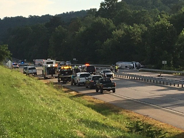 Scene of crash on U.S. 74 (July 25, 2017/FOX Carolina)