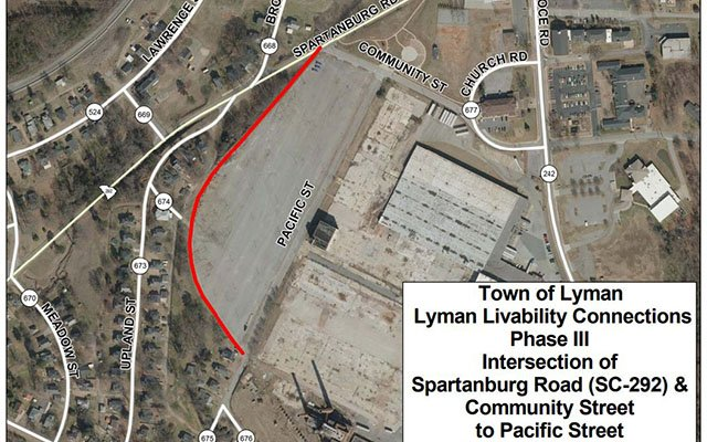 Proposed multi-use pathway in Lyman (Source: SCDOT)