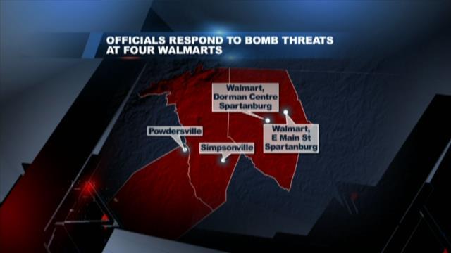 Authorities investigating bomb threats at 4 Upstate Walmarts