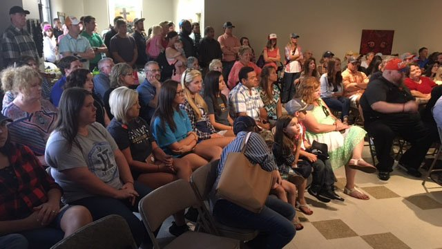 Loved ones attend memorial service for Josh Martin on Wednesday. (FOX Carolina/ 7/26/17)