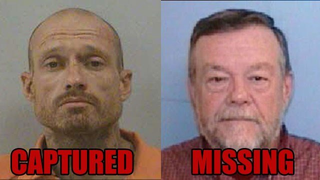 Phillip Stroupe was captured Thursday driving Thomas Bryson's vehicle (File images)
