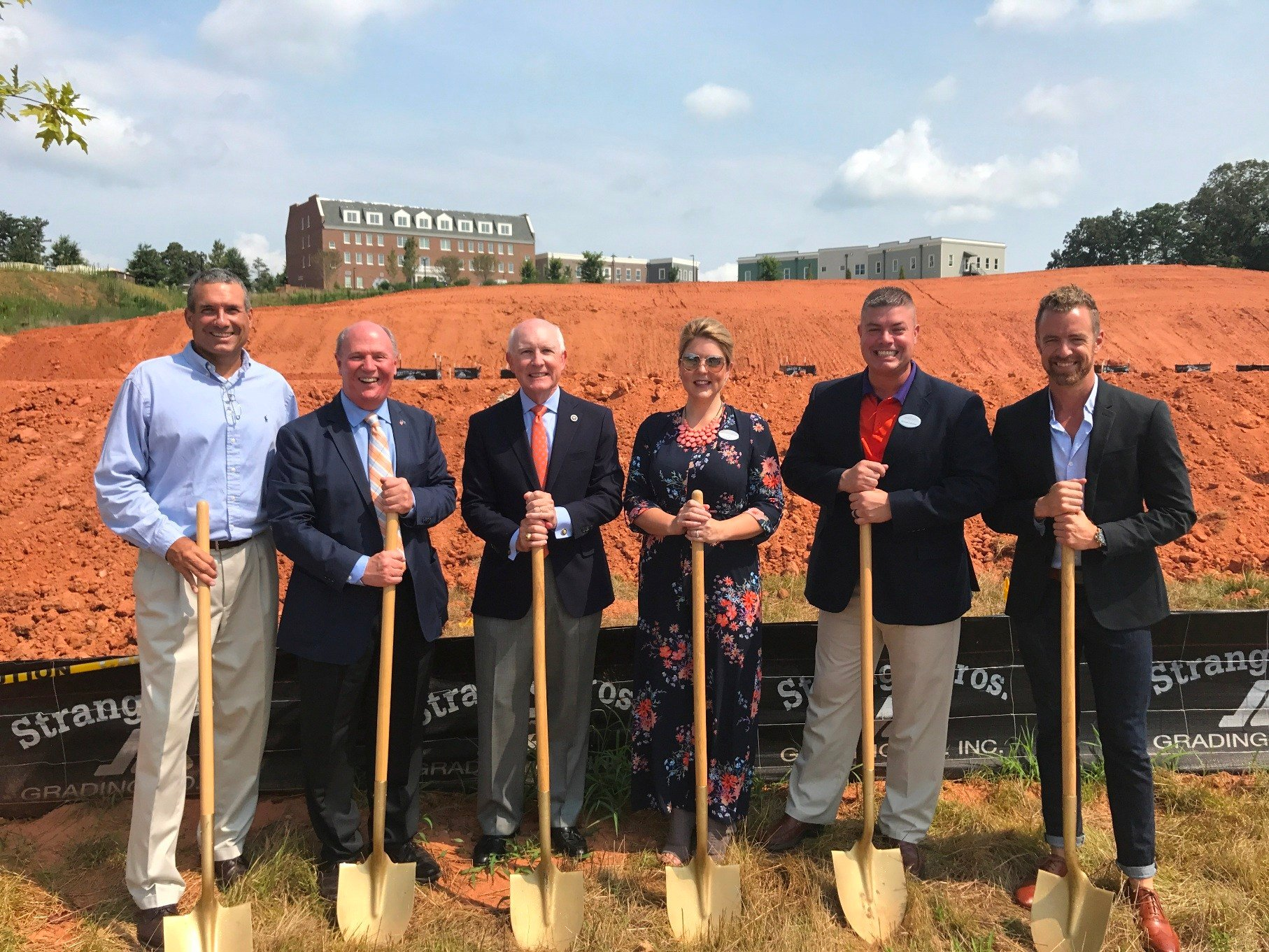 Left to Right: Rick Cotton, Clemson city administrator; Sen. Thomas Alexander; Rep. Gary Clary; Lindsey Daugherty, Principal, Role Model; Michael Holtzclaw, sr director of operations; Mark Taylor, president. (Source: The Point Group)