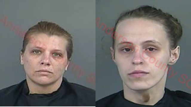Marina Brittany Wood (left) and Katherine Duffell (right) (Source: Anderson Co. Detention Center)