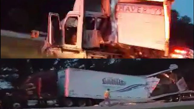 Viewer submitted images of the crashes.
