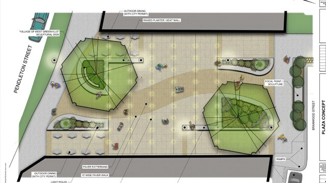 Artist's rendering of the new plaza (Source: city of Greenville)