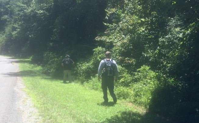 Search crews in Mills River (July 29, 2017)