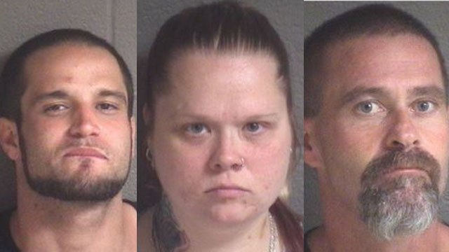 From left: Larry Hawkins, Jennifer Hawkins, Frederick Badgero (Source: BCSO)