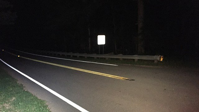Scene of fatal collision on Fants Grove Road. (7/30/17 FOX Carolina)