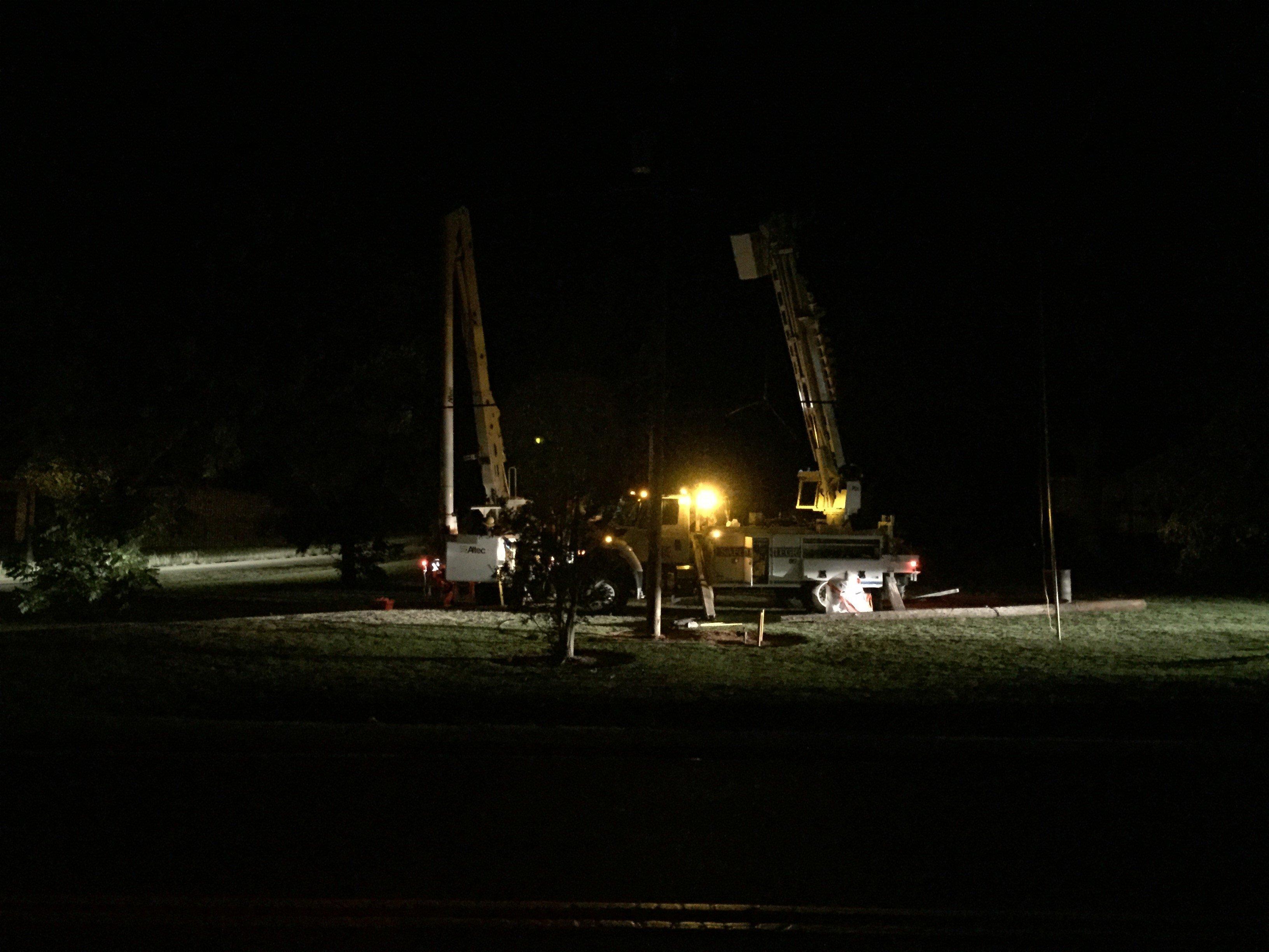 Energy crews work to restore power. (9/11/17 FOX Carolina)