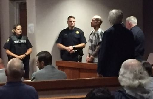 Phillip Stroupe II in court on Aug. 1, 2017 (FOX Carolina)