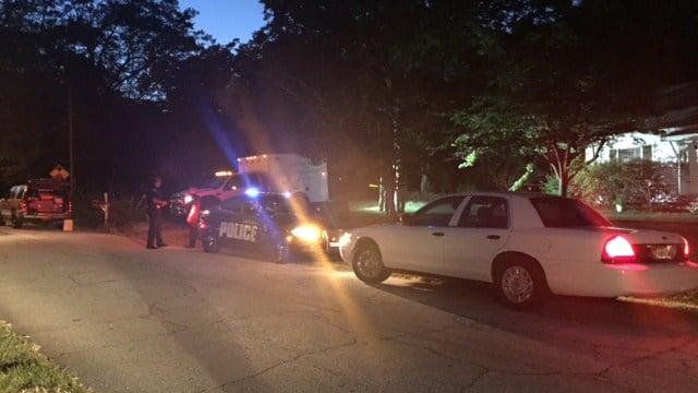 Scene of the investigation into a deadly dog attack in Hartwell. (8/1/17 FOX Carolina)