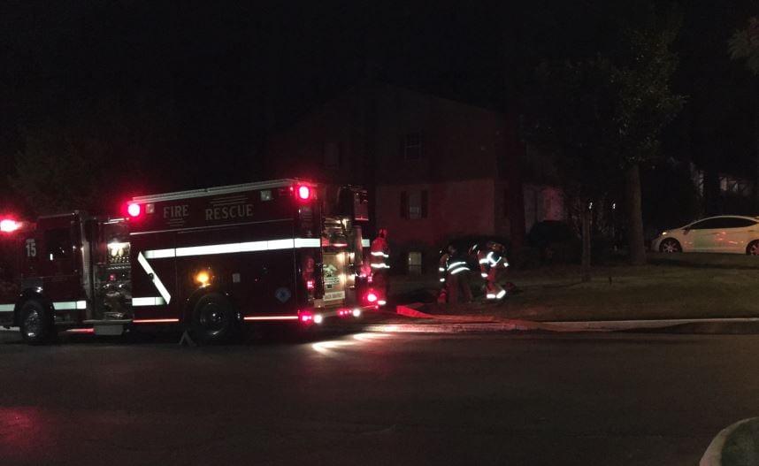 Firefighters at the Views on Pelham (FOX Carolina/ Aug. 2, 2017)
