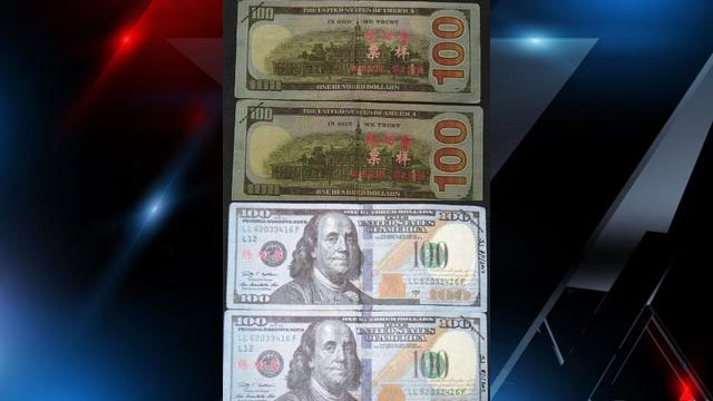 Counterfeit bills being passed around in Tryon, NC (Source: Tryon PD Facebook)