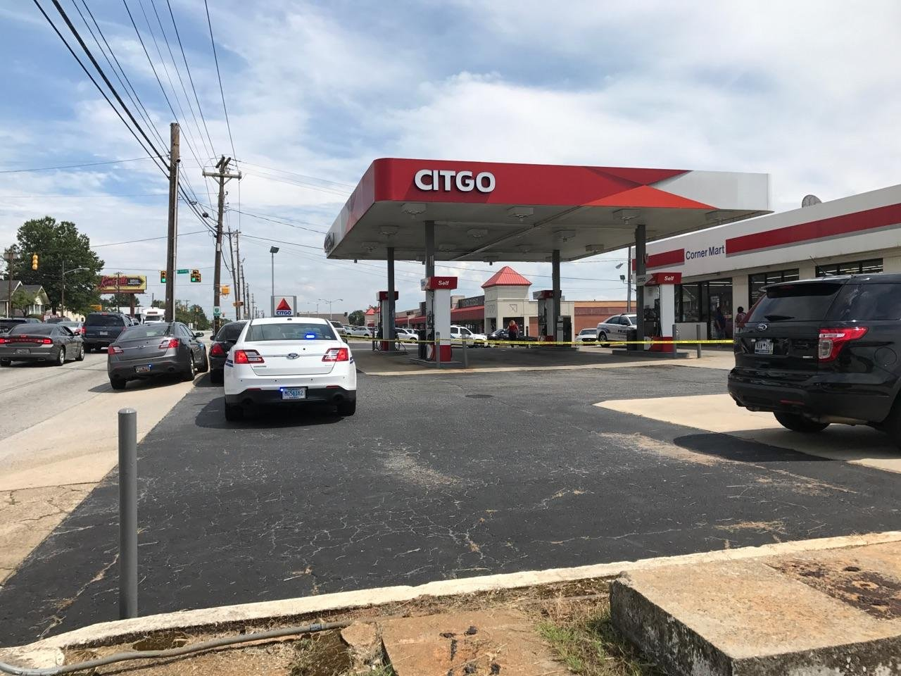 Police on scene of shooting in Greenville (Source: iWitness)