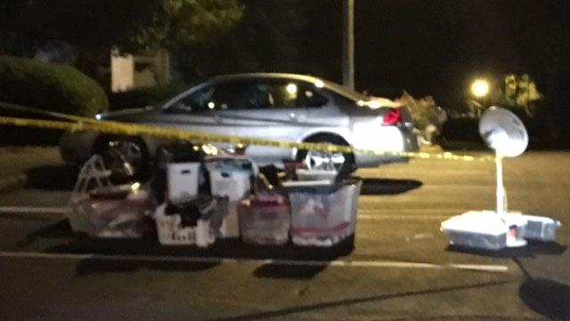 Scene of assault at Greenville Co. apartments (FOX Carolina/8/3/17)