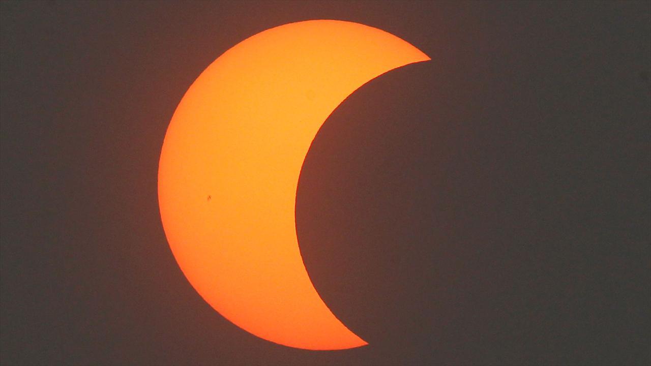 Solar eclipse (Source: Associated Press)